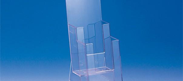 stojany 1/3 A4 (DL) 110 mm šírka 2 vertikálne zásobníky aj s potlačou