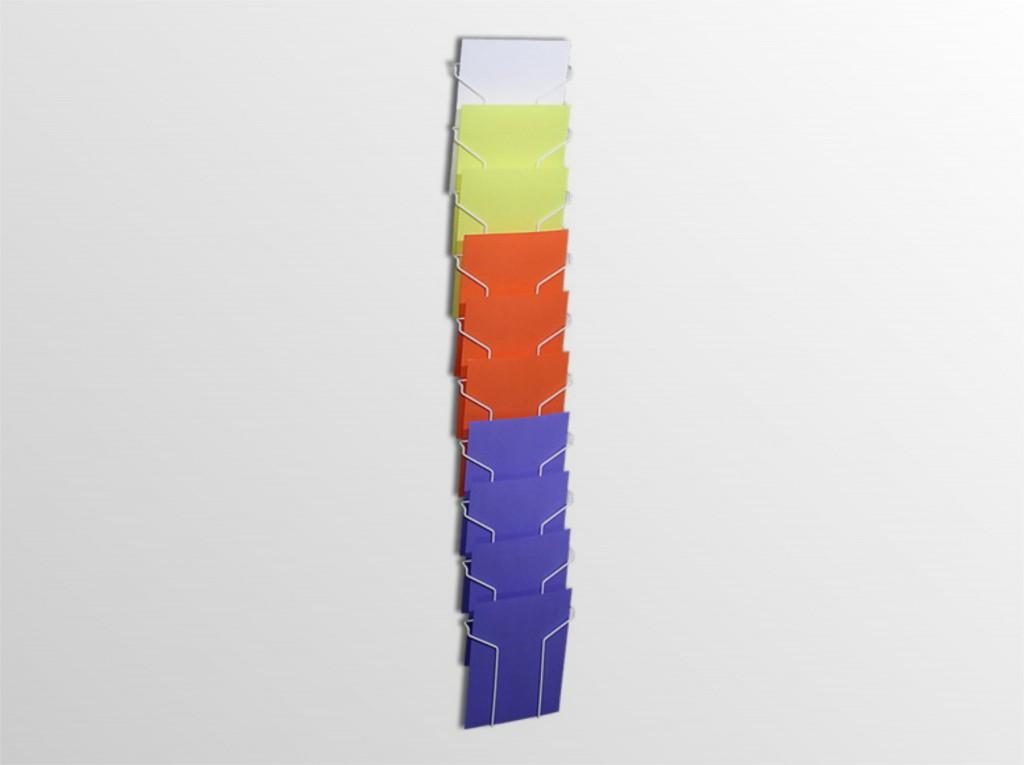10xA4NS -stojan na stenu -formát A4 -10 zásobníkov