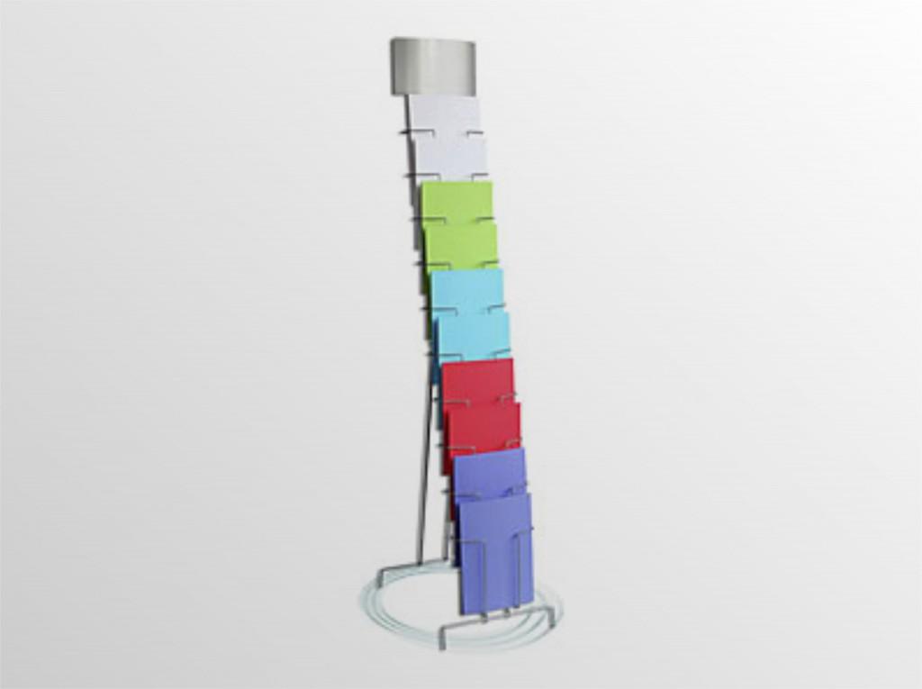 10xA4TSS -drôtený stojan s opornou podperou -stojan s oporou na zem s logo tabuľou -formát A4 -10 zásobníkov