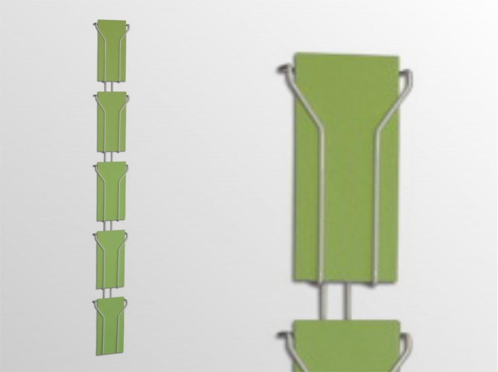 5x1/3A4NS -stojan na stenu -formát DL (1/3 A4) -5 zásobníkov