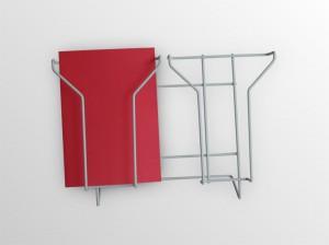 2xA5NS -stojan na stenu -formát A5 -2 zásobníky